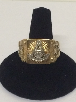 Past Master Masonic Ring (Mens) (10K)